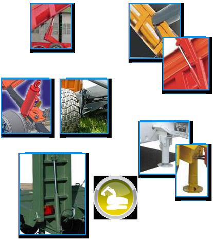 Vérin hydraulique de levage, de stabilisateur, de suspension, de porte et de rampe