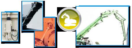 Vérin hydraulique de concasseur (fixe et mobile) et de pompe de centrale à beton