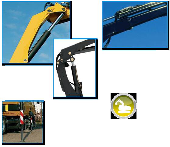 Vérin hydraulique de levage, de télescopage et de stabilisateur pour grues