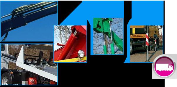 vérins hydrauliques de levage, de stabilisateur, de télescopage et de coulissement plateau