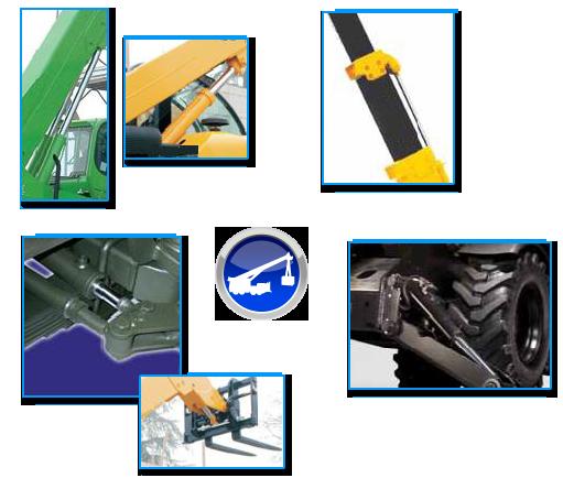 Vérin hydraulique de levage et de compensation, de telescopage, d'inclinaison, de direction et de stabilisateur