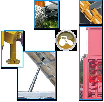Vérin hydraulique de levage, de béquille, de suspension et de porte