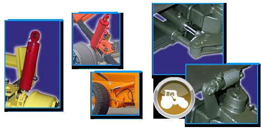 Vérin hydraulique de freinage, de direction et de suspension